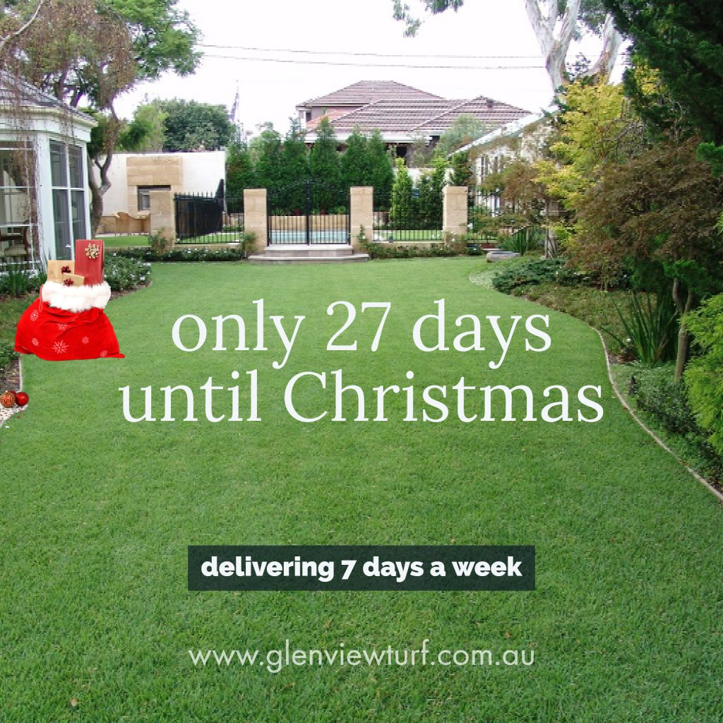 Glenview Turf Only 27 Days til Xmas