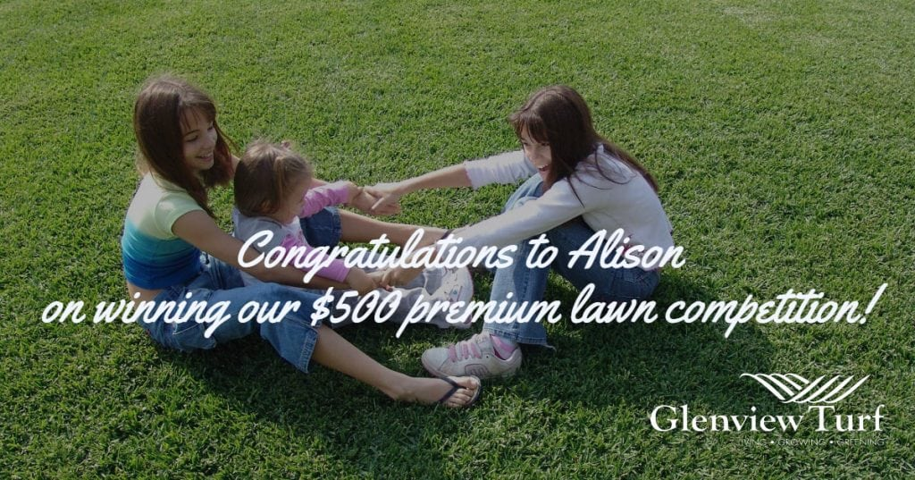 Congratulations to Alison on Winning 2
