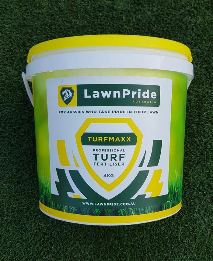 Lawn Pride Turfmaxx Professional Turf Fertiliser 4KG e Glenview Turf
