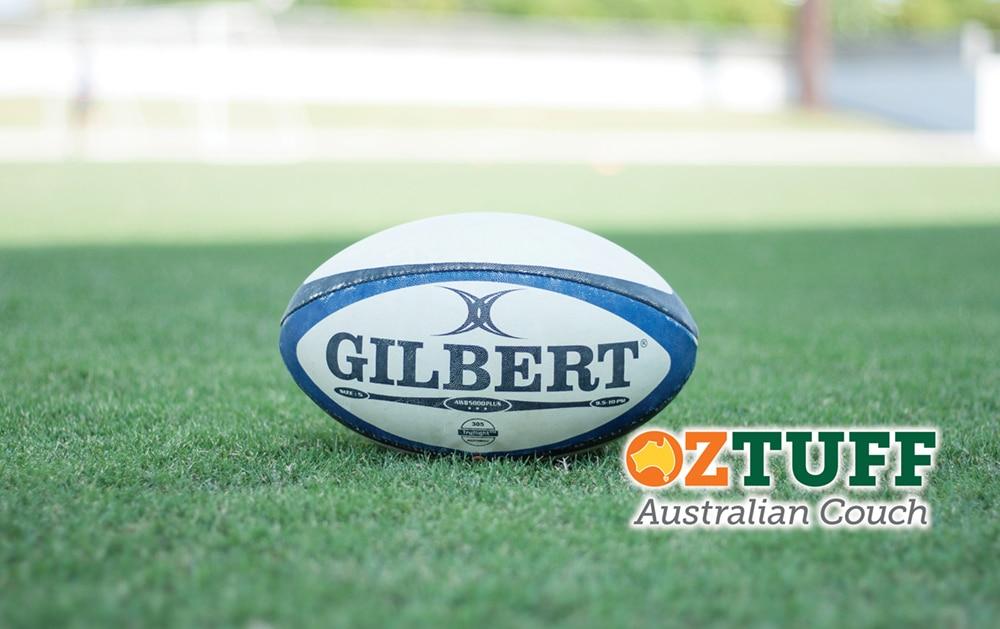 Oz Tuff Sports Turf Australian Couch Rugby Logo e